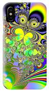 Rainbow Butterfly Bouquet Fractal Abstract IPhone Case