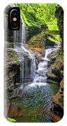Rainbow Falls In Watkins Glen IPhone Case