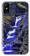 Rainbow Falls Watkins Glen State Park IPhone Case