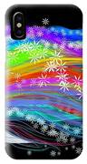 Rainbow Flower Girl IPhone Case