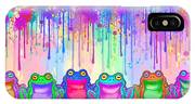 Rainbow Of Painted Frogs IPhone Case