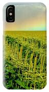 Rainbow Over The Cornfields IPhone Case