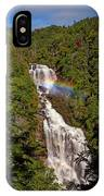 Rainbow Over Whitewater Falls IPhone Case