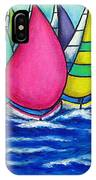 Rainbow Regatta IPhone Case