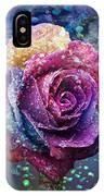 Rainbow Rose In The Rain IPhone X Case