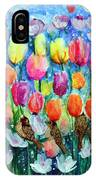Rainbow Tulips IPhone Case