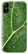 Raindrops On Fiddle Leaf IPhone Case