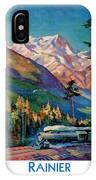 Rainier National Park Vintage Poster Restored IPhone Case