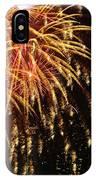 Raining Golden New Year Wishes IPhone Case