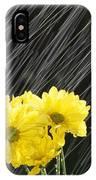 Raining On Yellow Daisies IPhone Case