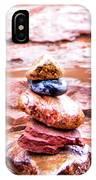 Rainy Day Stone Cairns In Sedona IPhone Case