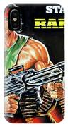 Rambo 2 Sylvester Stallone Paintinf IPhone Case