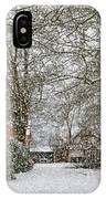 ramlosa brunnspark Snowfall IPhone Case