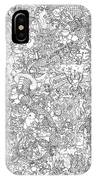 Random And Pop-culture Themed Coloring Poster IPhone Case