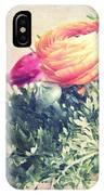 Ranunculus Stilllife IPhone Case