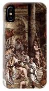 Raphael The Baptism Of Constantine IPhone Case