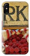 Raspberries At The Market IPhone Case