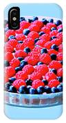 Raspberry And Blueberry Tart IPhone Case