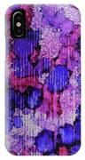 Raspberry Rain Ink #19 IPhone Case
