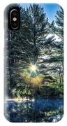 Rays Of Light On The Androscoggin River IPhone Case