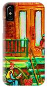 Reading On The Steps IPhone Case
