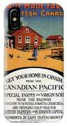 Ready Made Farms In Western Canada - Canadian Pacific - Retro Travel Poster - Vintage Poster IPhone Case