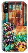 Ready To Water The Garden Oil Painting IPhone Case