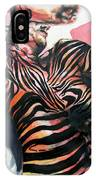 Reclined Striped And Symbolic  IPhone Case