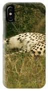 Reclining Cheetah Profile IPhone Case