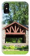 Recreation Shelter In Forest Park IPhone Case