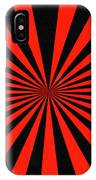Red And Black Abstract #3 IPhone Case