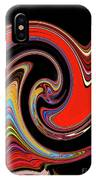 Red And Black Stream  IPhone Case