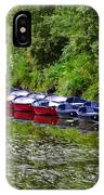 Red And Blue Boats On The River Coquet IPhone Case