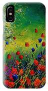 Red And Blue Poppies 67 1524 IPhone Case