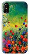 Red And Blue Poppies  IPhone Case