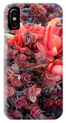 Red And Burgundy Succulent Plants IPhone Case