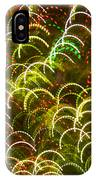 Red And Green Half Circle Lights Abstract IPhone Case