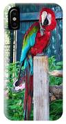 Red  And  Green Macaw         Zoo      Indiana IPhone Case