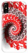 Red And White Fractal IPhone X Case