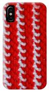 Red And White Knit IPhone Case