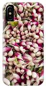 Red And White Radishes IPhone Case