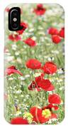 Red And White Wild Flowers Spring Scene IPhone Case