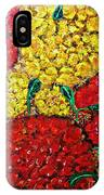 Red And Yellow Garden IPhone Case