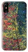 Red And Yellow Leaves Abstract Horizontal Number 1 IPhone Case