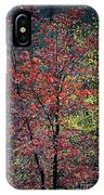 Red And Yellow Leaves Abstract Vertical Number 1 IPhone Case