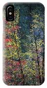 Red And Yellow Leaves Abstract Vertical Number 2 IPhone Case