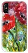 Red Anemone Flowers IPhone Case