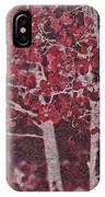 Red Aspen IPhone Case