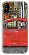 Red Morris Minor IPhone Case