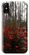 Red Azaleas In The Swamp IPhone Case